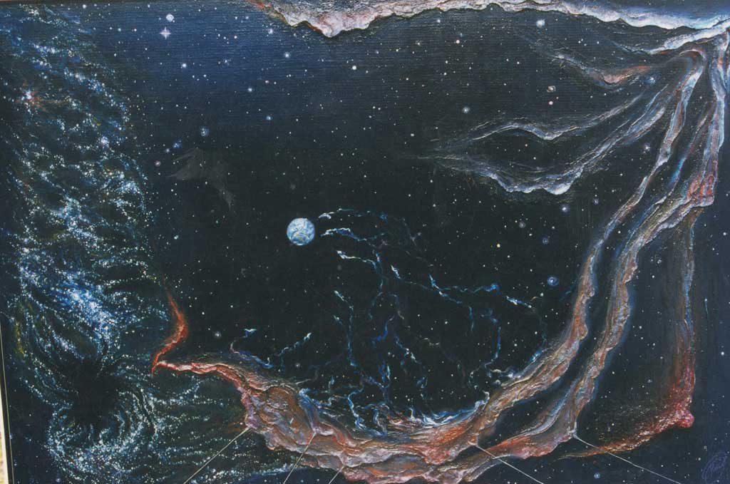 Лилит, Апрель 1997 г., 93х136 см, холст, масло, рельефная паста.
