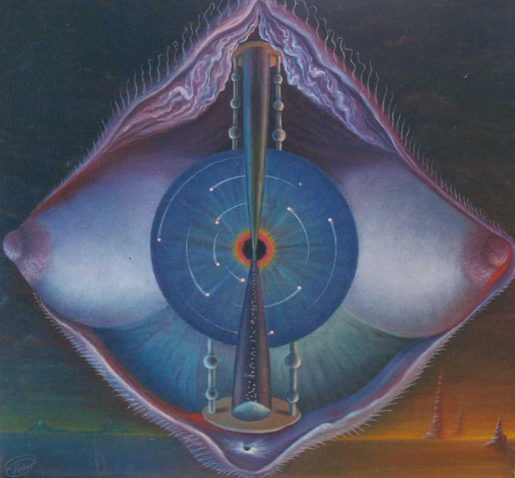 Сингулярная компиляция. Февраль 1989 г., 56х58 см, холст, масло.