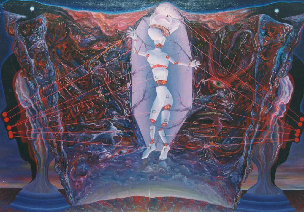 Тактильный манифест. Ноябрь 1989 г., 94х134 см, холст, масло.